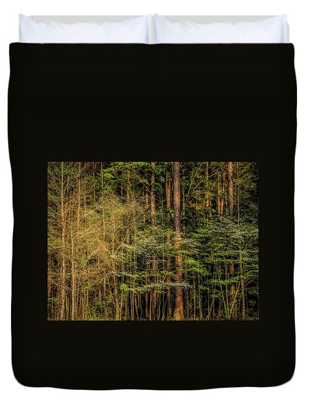 Forest Dogwood Duvet Cover
