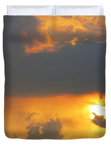 Forest Grove Solar Storm Duvet Cover