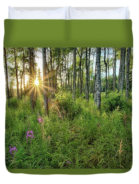 Duvet Cover featuring the photograph Forest Growth Alaska by Nathan Bush