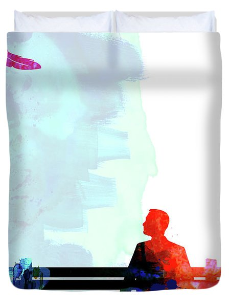 Forest Gump Watercolor II Duvet Cover