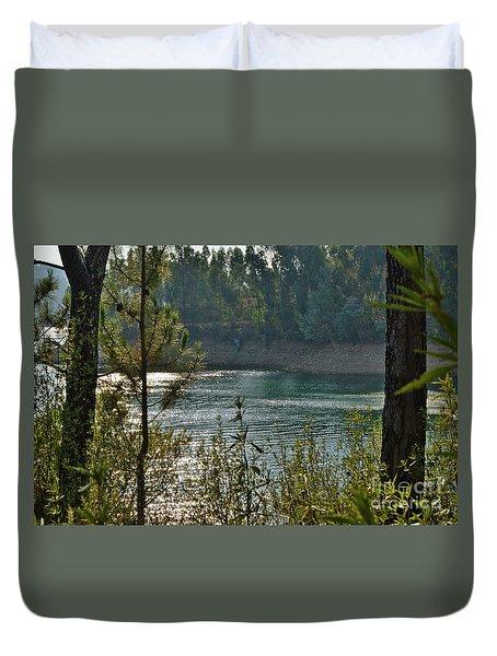 Forest Lake In Amendoa Duvet Cover