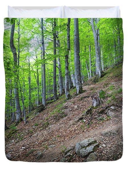 Forest On Balkan Mountain, Bulgaria Duvet Cover