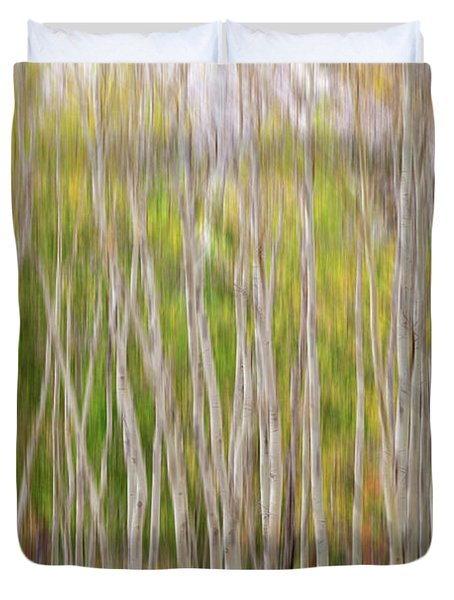 Forest Twist And Turns In Motion Duvet Cover