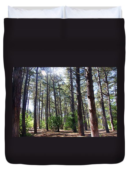 Formby. Woodland By The Coast Duvet Cover