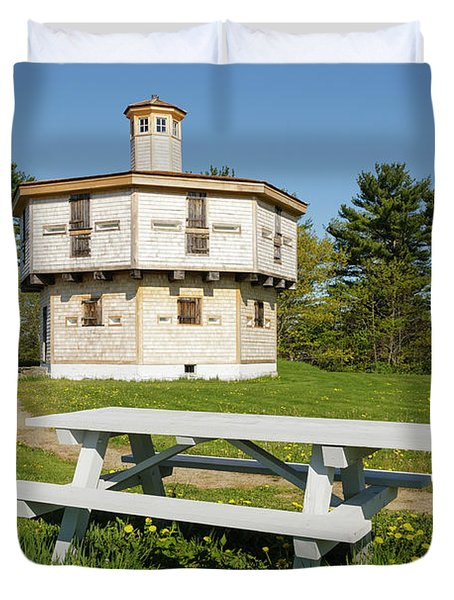 Fort Edgecomb - Edgecomb, Maine Duvet Cover