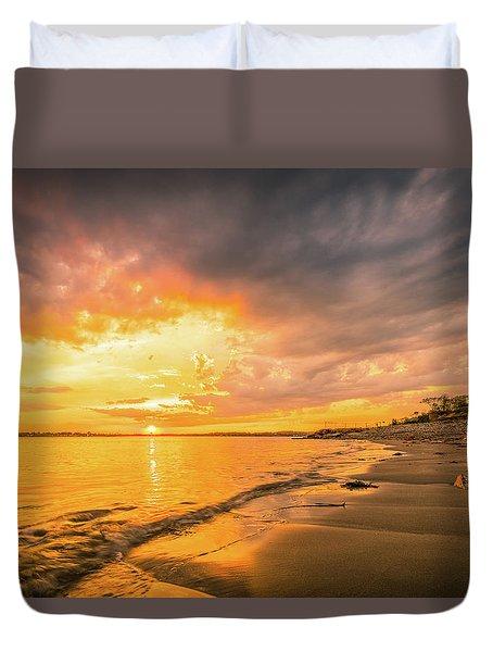 Fort Foster Sunset Watchers Club Duvet Cover
