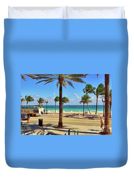Fort Lauderdale Beach, Florida Duvet Cover