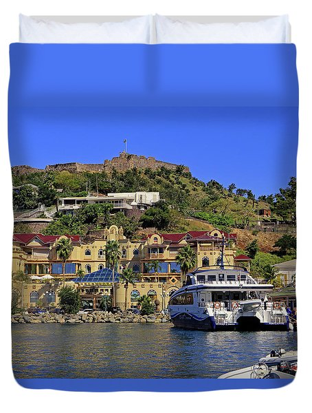Duvet Cover featuring the photograph Fort St Louis by Tony Murtagh