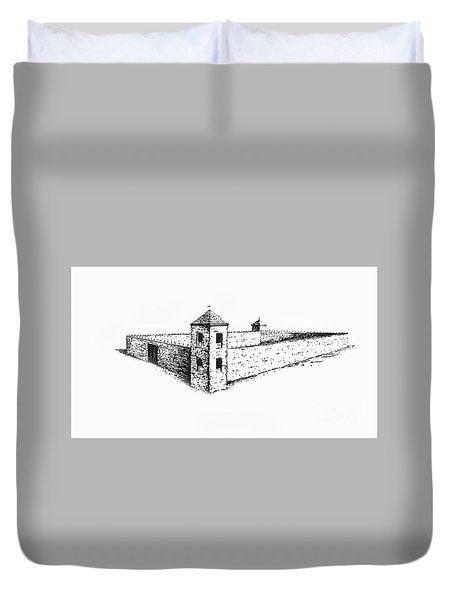 Duvet Cover featuring the photograph Fort St. Vrain by Jon Burch Photography