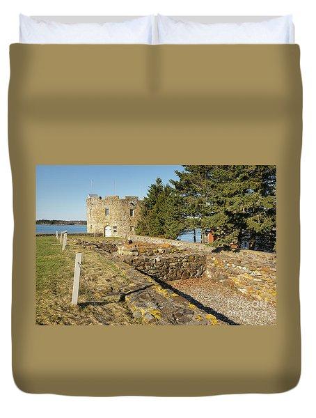 Fort William Henry - New Harbor, Maine Duvet Cover