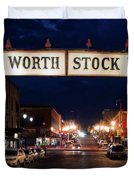Fort Worth Stock Yards 112318 Duvet Cover
