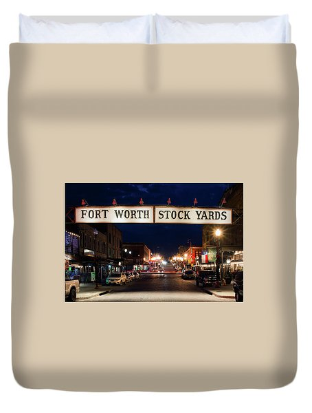 Fort Worth Stock Yards 112318 Duvet Cover