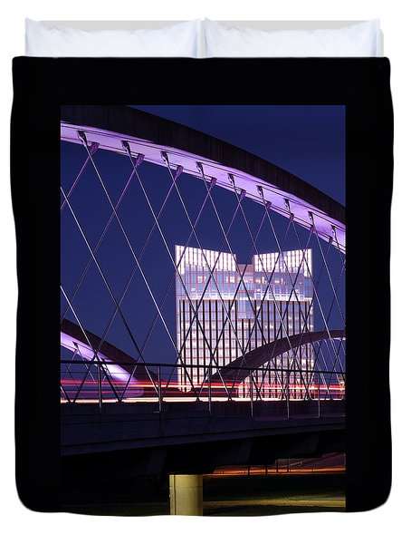 Fort Worth West Seventh Street Bridge V2 021419 Duvet Cover