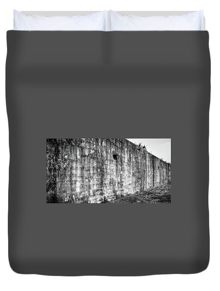 Duvet Cover featuring the photograph Fortification by Steve Stanger