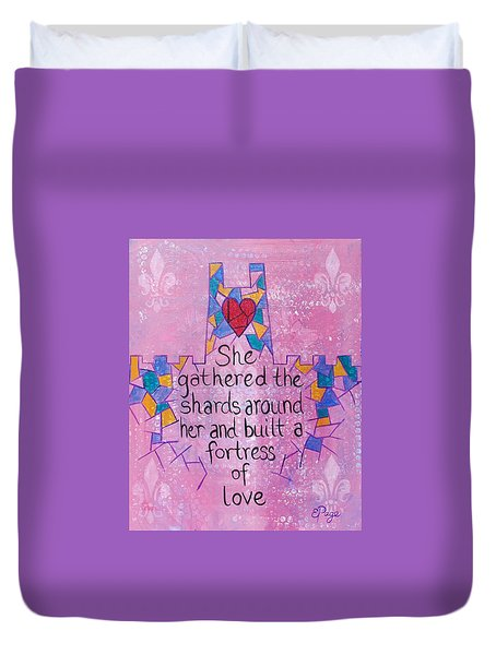 Fortress Of Love Duvet Cover