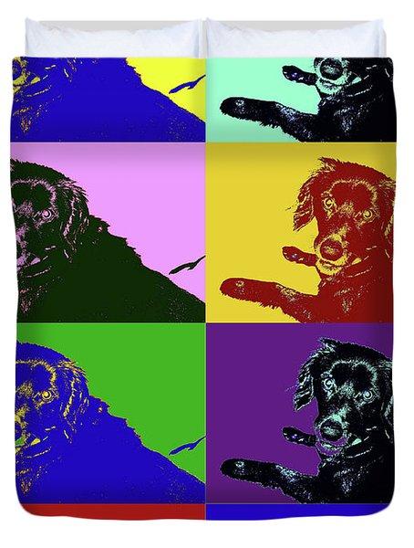Foster Dog Pop Art Duvet Cover