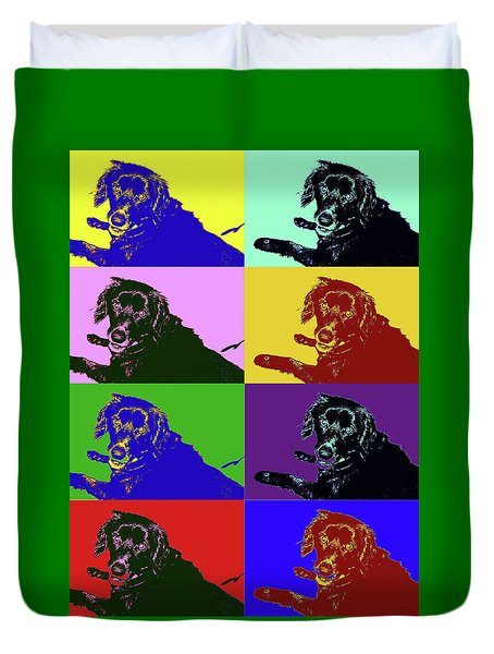 Foster Dog Pop Art Duvet Cover