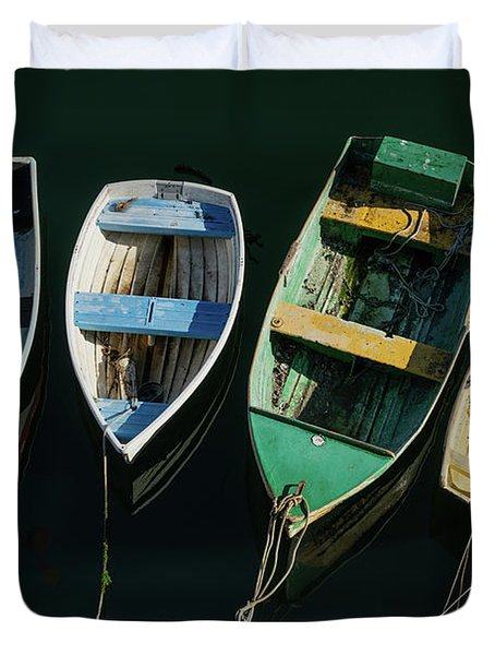 Four Dinghies Duvet Cover
