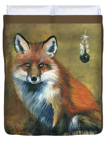 Fox Shows The Way Duvet Cover