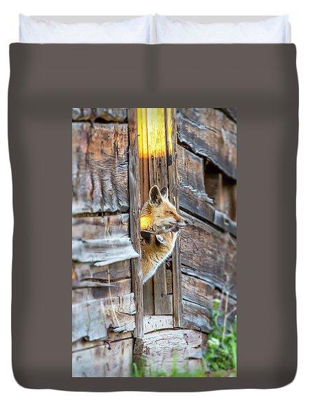 Fox Test  Duvet Cover