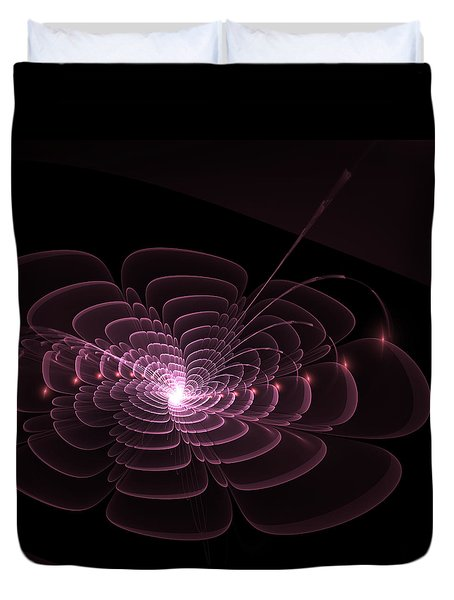 Fractal Rose Duvet Cover