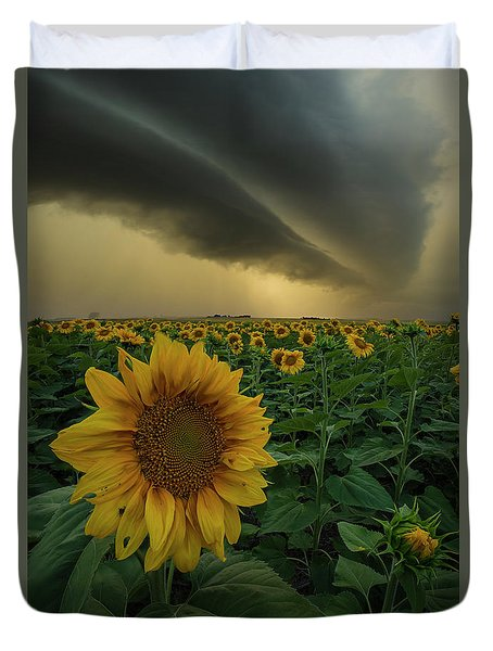Duvet Cover featuring the photograph Frailty  by Aaron J Groen