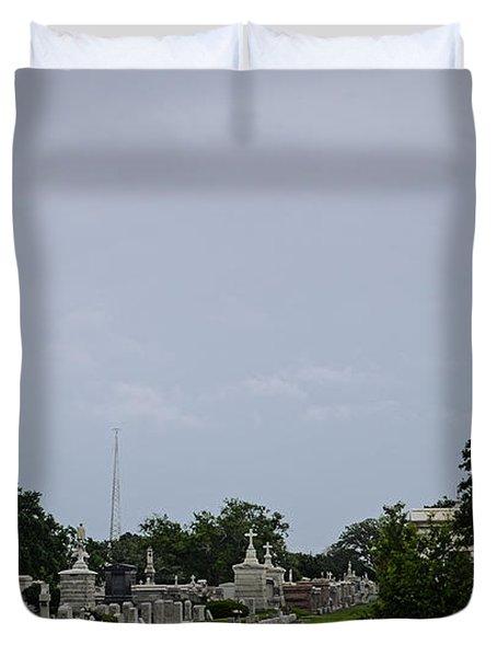 Framed In The Cemetery Duvet Cover
