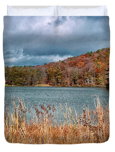 Framed Lake Duvet Cover
