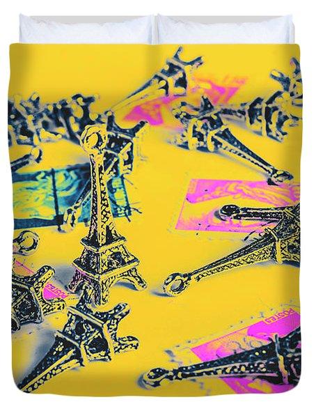 France Romance Duvet Cover
