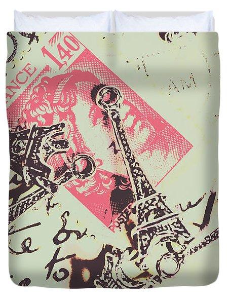 Francs Script Duvet Cover