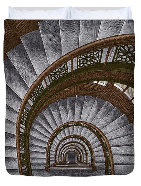 Frank Lloyd Wright - The Rookery Duvet Cover