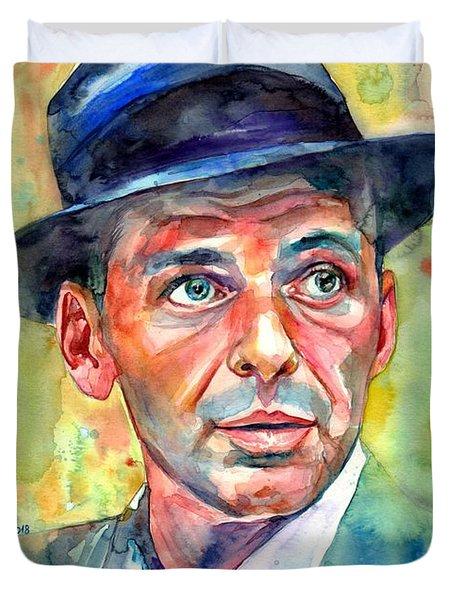 Frank Sinatra Wearing A Fedora Duvet Cover