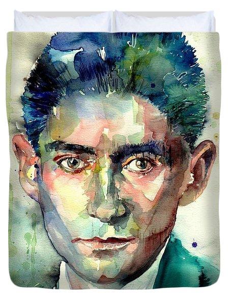 Franz Kafka Portrait Duvet Cover