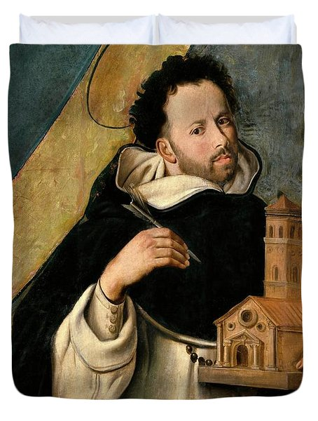 Fray Juan Bautista Maino / 'saint Dominic', 1612-1614, Spanish School. Duvet Cover