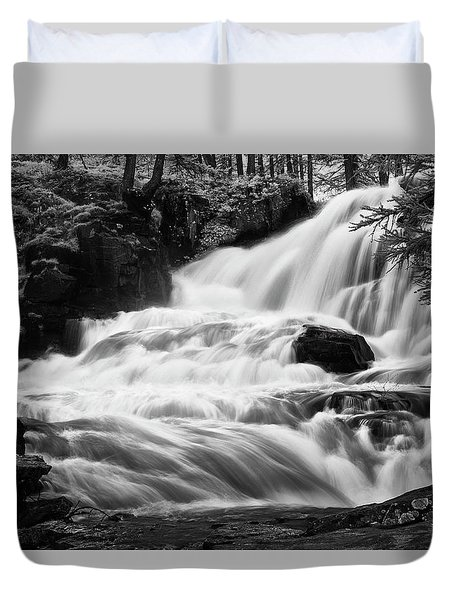 French Alps Stream Duvet Cover