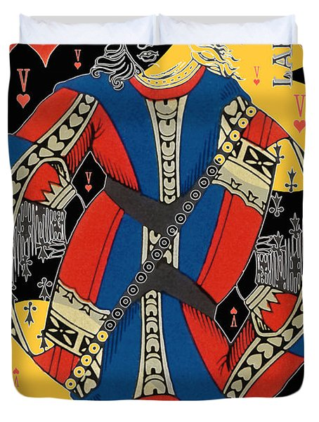 French Playing Card - Lahire, Valet De Coeur, Jack Of Hearts Pop Art - #2 Duvet Cover