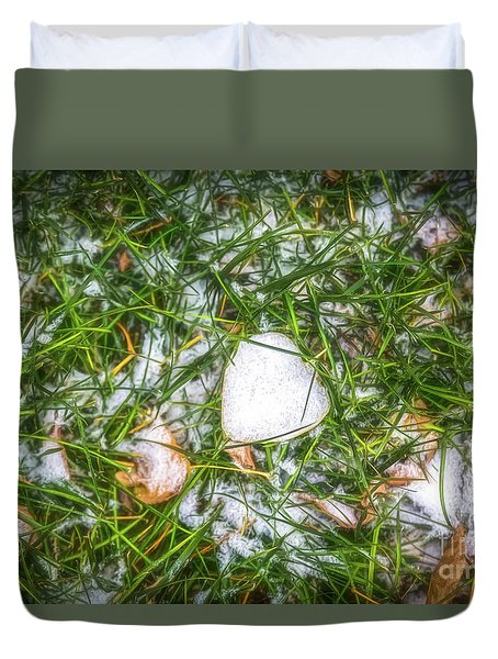 Duvet Cover featuring the photograph Fresh Snow by Jon Burch Photography