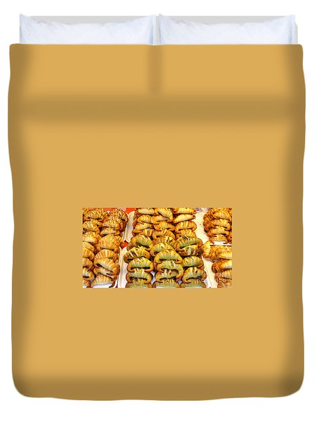 Freshly Baked Croissants Duvet Cover