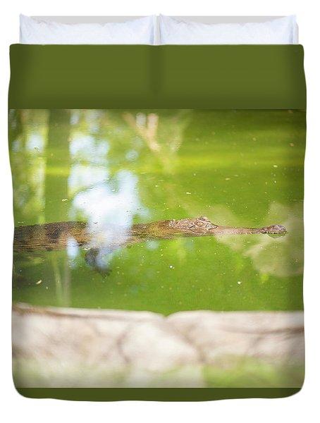 Freshwater Crocodile Duvet Cover