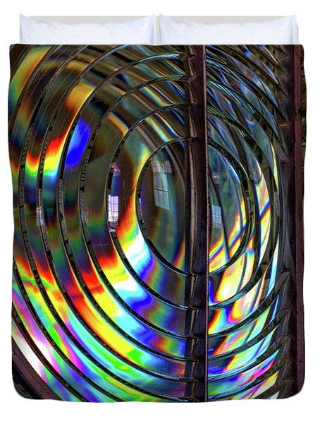 Fresnel Lens Point Arena Lighthouse Duvet Cover