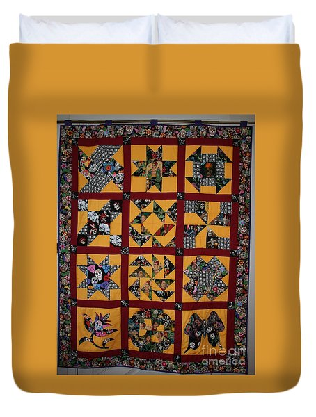 Duvet Cover featuring the tapestry - textile Frida Quilt by Cynthia Marcopulos