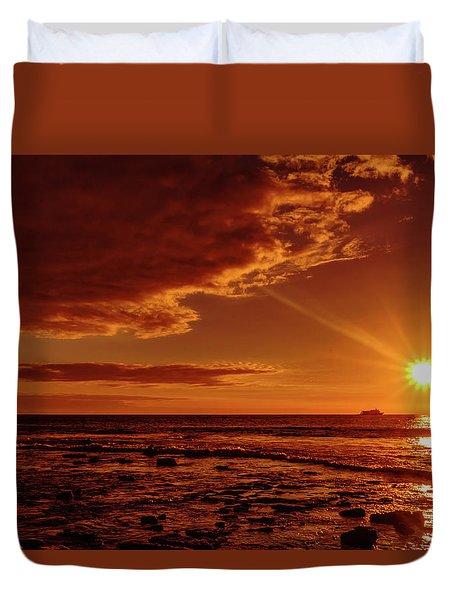 Friday Sunset Duvet Cover