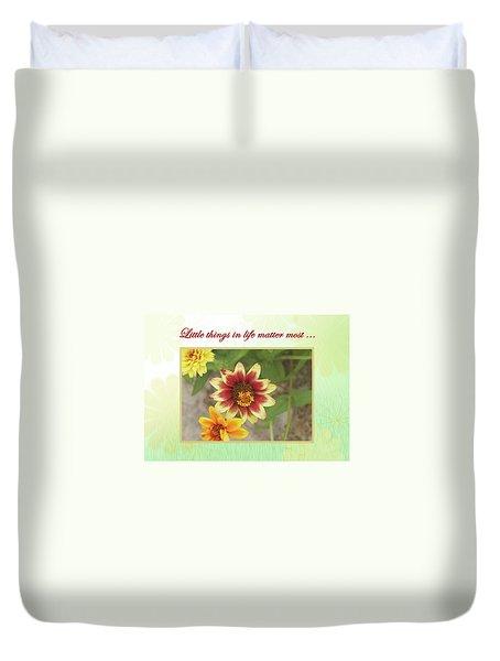 Friendship, A Smiling Indian Blanket Flower  Duvet Cover
