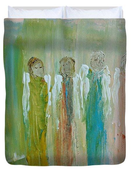 Friendship Angels Duvet Cover