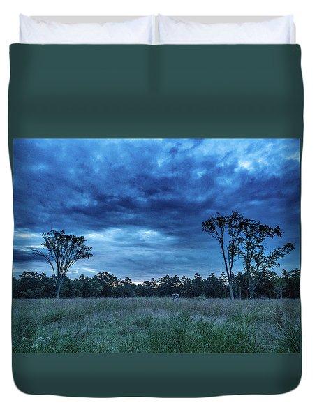 Friendship Blue Hour Sunrise Duvet Cover