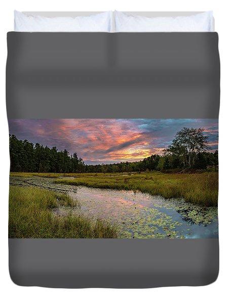 Friendship Panorama  Sunrise Landscape Duvet Cover