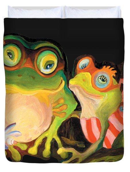 Frogs Overlay  Duvet Cover