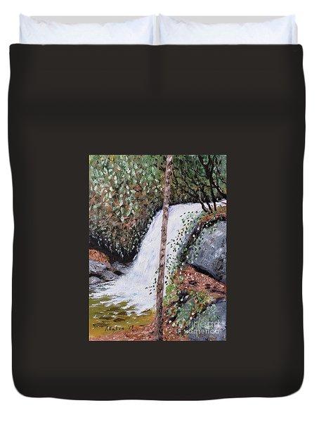 Frolictown Falls Duvet Cover