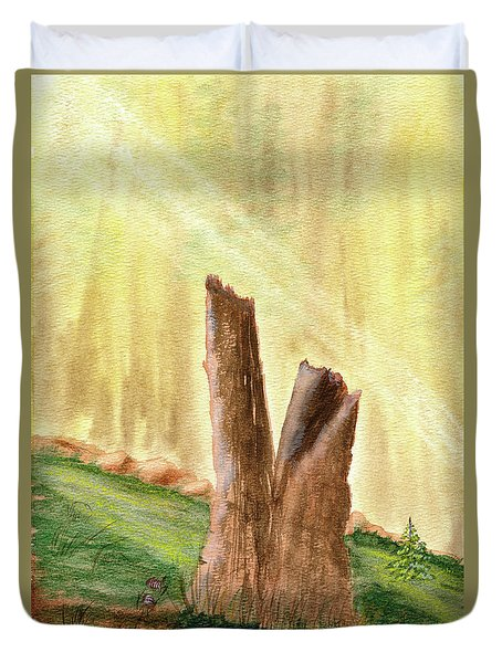 From Ruins Comes New Life Duvet Cover