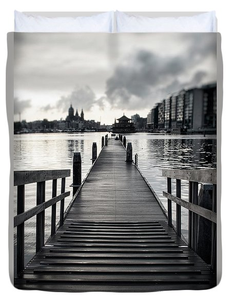 From The Solid Ground... Duvet Cover